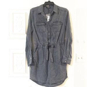 EXPRESS Dark Grey Long Sleeve Button Down Shirt👗